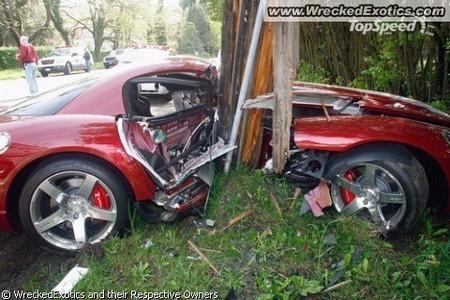 Галерея разбитых спорткаров 2