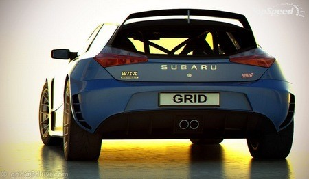 Subaru Impreza WRX STI вид сзади