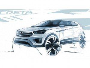 Hyundai показала первые изображения кроссовера Creta